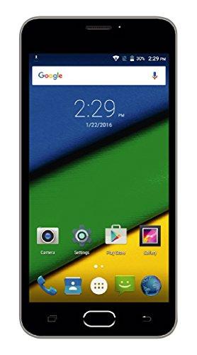 Creev Mark V Prime 4G LTE Smartphone 5'' IPS LCD HD 1280x720 Quad Core MTK6735 5MP 1 GB di RAM 8 GB di ROM da 8 megapixel 2400mAh Bluetooth GPS FM Android 5.1 Dual SIM Dual Standby cellulare sbloccato il telefono mobile WIFI SIM-Free (Grigio)
