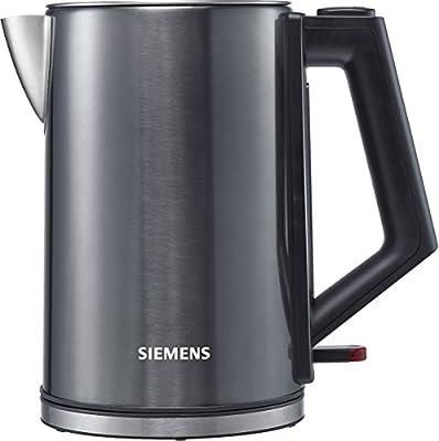 Siemens tw71005Bouilloire 1,7L 1850-2200W, Cordless 360° Base en acier inoxydable