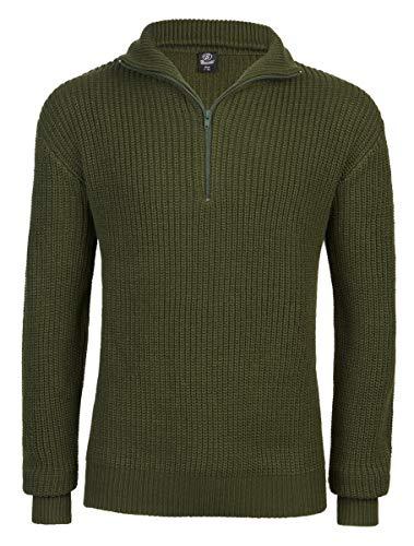 Brandit Marine Pullover Troyer - Oliv - Größe L/52