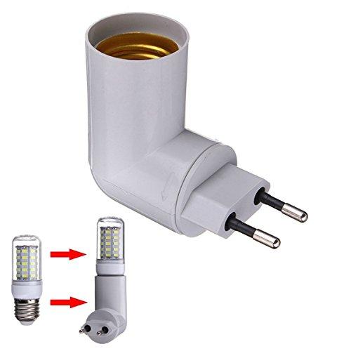 Plug-in-licht-adapter (ILS - PBT PP Um E27 LED Licht Lampen Birnen Halter Adapter Konverter Buchse)