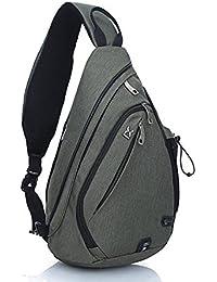 EGOGO Multifunktions Schultertasche Rucksack Crossbody Tasche Sling Tasche Wandern Dackpack ein sollte Schultergurt für Männer und Frauen E300-4
