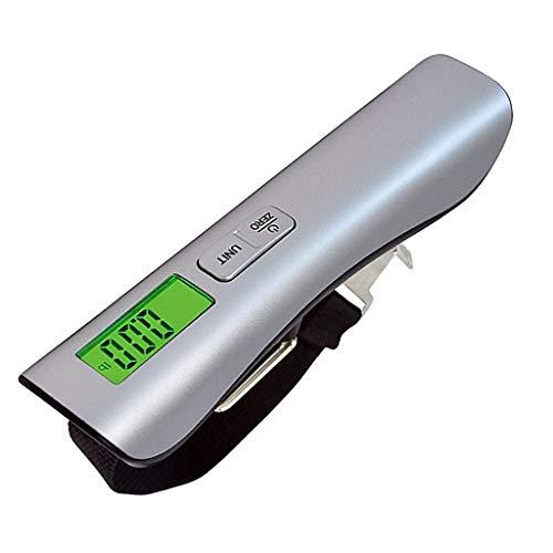 Wcx bilancia digitale pesa bagagli valigie 50kg/110lb, con display lcd retroilluminato, sensore di temperatura, funzione zero e tare per viaggi all'aperto casa