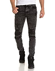 Gov Denim - Jean slim homme noir délavé fashion