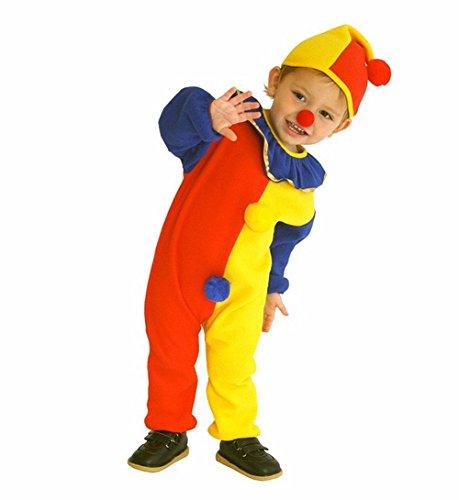 Kleinkind Kostüm Lustige - Unbekannt DS (GR. 92-110) *3 TEILE* LUSTIGES CLOWN KOSTÜM FASCHING KARNEVAL VERKLEIDEN (92)