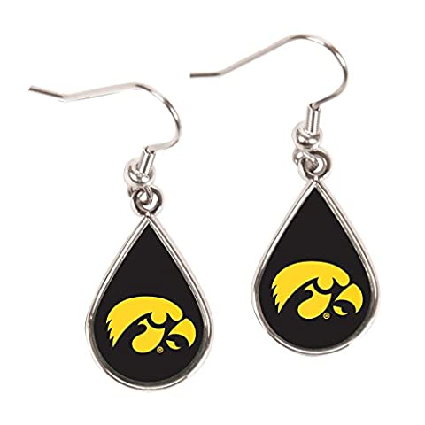 University of Iowa Tear Drop Boucles d'oreilles