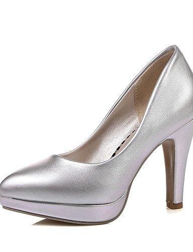 WSS 2016 Chaussures Femme-Habillé-Rose / Violet / Blanc / Argent-Gros Talon-Talons / Bout Pointu-Talons-Similicuir white-us5.5 / eu36 / uk3.5 / cn35