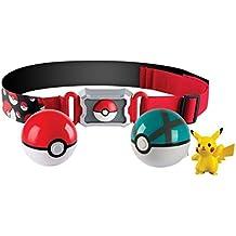 """TOMY Pokémon - """"Cinturón de Poké Balls con Poké Balls"""" para jugar y coleccionar, a partir de 4años"""