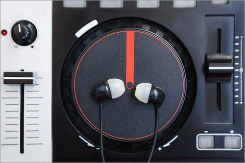 Holzbild 120 x 80 cm: DJ-MIDI-Controller Plattenspieler von Colourbox