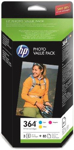 HP 364 Photo Value Pack mit Tintenpatrone und Fotopapier, 10 x 15cm,...