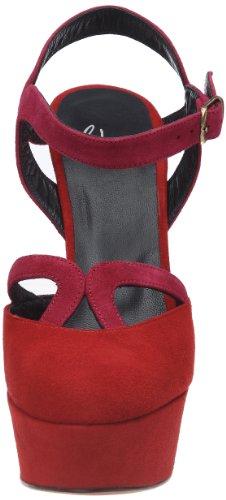 Castaner Nora, Damen Zehentrenner Rot (Rouge (126 23 Rojo/Fucsia))