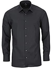 Olymp chemise pour homme level 5 body fit 2080 chambray anthracite 64 à 67