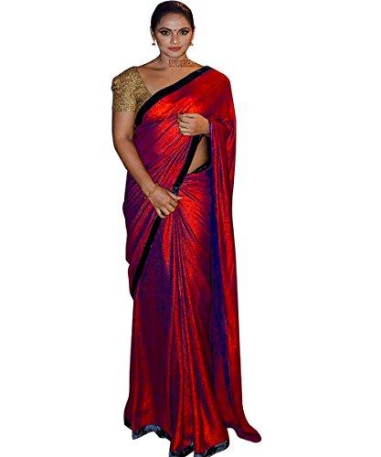 Shopaholic Enterpriselattest designer MaroonResham Woven Party Wear Bollywood Style Saree With Blouse