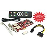 DVBSky S952 V3 PCIe card (low profile) with 2x DVB-S2 tuner (Dual Twin Tuner), partitioned USB stick with windows software and bootable linux media center