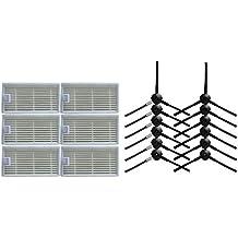 12 cepillo lateral & 6 Filtro HEPA para CHUWI ilife v5s v5 x5 ilife V3s v3s