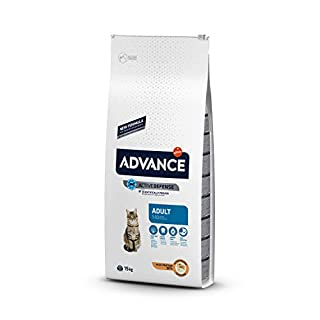 ADVANCE Adult Huhn und Reis Trockenfutter Katze, 1-er Pack (1 x 15 kg)