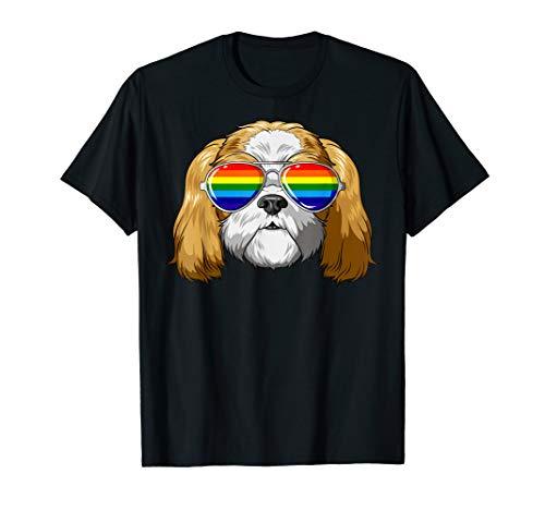 Shih Tzu Gay Pride LGBT Regenbogen-Sonnenbrille Shih Tzu T-Shirt