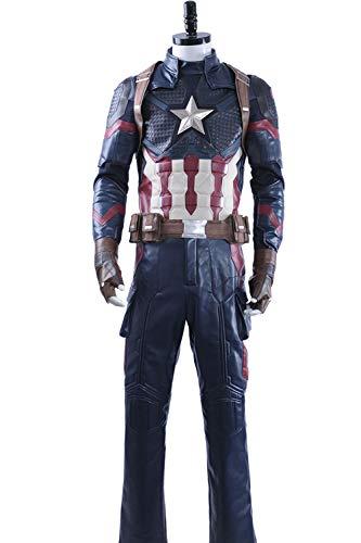 Cosplayfly Captain America Steve Roger Oxford Stoff Cosplay Halloween Karneval Kostüm Nach Maß (America Kostüm Captain Halloween Weiblich)