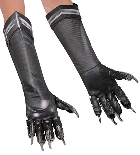 Captain America 3 Deluxe Black Panther Costume Gloves Child One Size (Black Panther Handschuhe)