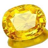 #4: Color Gems 13.15 Carat Crystal Yellow Sapphire (Pukhraj) Gemstone