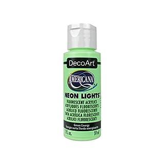 Deco Art Americana Neon Light s 2 oz. Green Energy, Acrylic Multicoloured, 1.15 x 1.15 x 3.9 cm