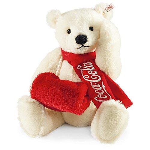Steiff 355301 Coca-Cola Eisbär, 38 cm, Alpaca weiß, Arktistier limitiert