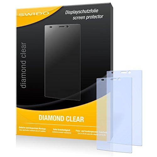 SWIDO 2 x Bildschirmschutzfolie Gionee Elife S5.5 Schutzfolie Folie DiamondClear unsichtbar