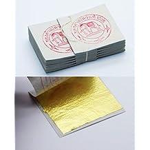 20 hojas de hojas de pan de oro - 999/1000 purety - 24 quilates - oro puro - comestibles