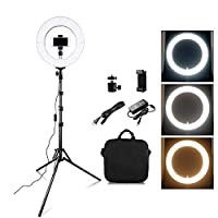 """FDGBCF LED Ring Light Dimmable Bi-color 384PCS 12"""" Annular Lamp For Studio Photo Video Photography Lighting ring lamp"""