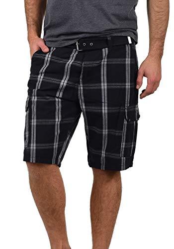 Blend hans pantaloncini cargo bermuda shorts pantaloni corti da uomo con cintura in cotone 100% regular- fit, taglia:s, colore:black (70155)