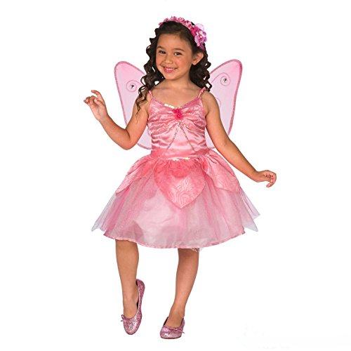 Morph OMPAL3379S Kostüm Girls Pink Fairy Größe ()