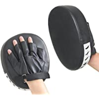 Xgeek 2PCS PU Leather Punching Kicking Palm Pad Target Mitt Glove for Focus Training of Karate MuayThai Kick Boxing UFC MMA
