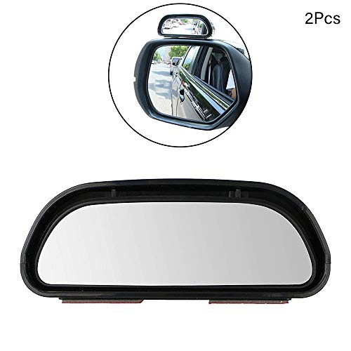 Iswell Espejos de Punto Ciego para autom/óviles Coche 360 Gran Angular Redondo Espejo Convexo Lado Punto Ciego Espejo de Punto Ciego Espejo Redondo peque/ño Espejo retrovisor Convexo