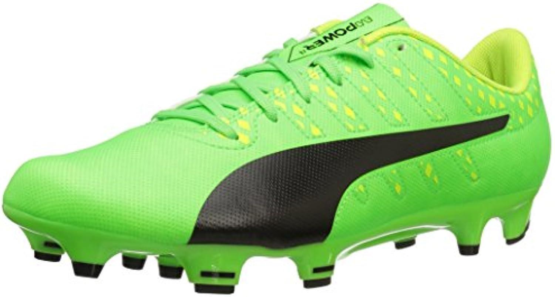 Zapato de f¨²tbol Evopower Vigor 4 FG para hombre, Verde Gecko-Puma Black-Safety Yellow, 11 M US