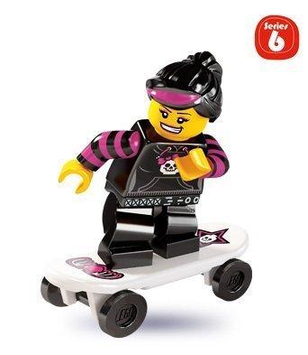 LEGO 8827 - Minifigur Skateboard-Fahrerin aus Sammelfiguren-Serie 6 (Lego Serie 9 Minifiguren)