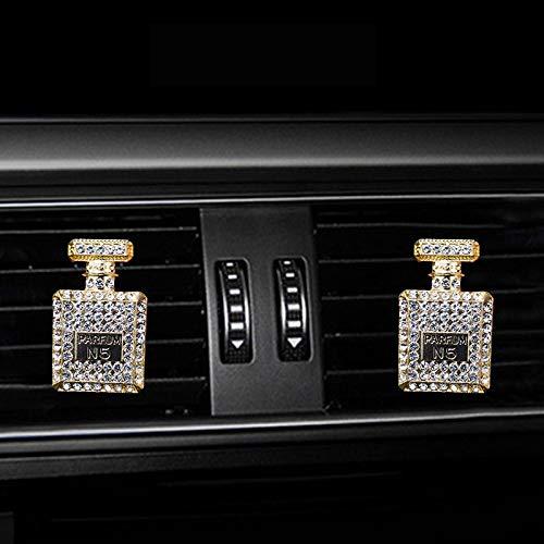 VAWAA Inlay Wasser Bohrung Parfüm Flasche Klimaanlage Klimaanlage Auslass Parfüm Auto Wohnraum-wohnaccessoire Auto Duft