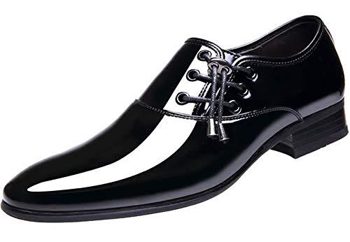 tqgold Herren Leder Schuhe Mokassin Casual Loafers Driving Schuh Formale Oxford Stiefel Innerhalb von 6CM erhöht