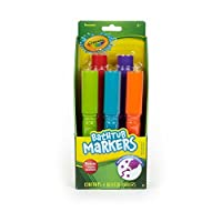 Crayola Bathtub Markers With Mystery Color, 4 fun bright colors!