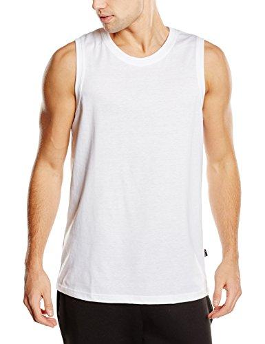 Trigema Herren Top 636404, Gr. Medium, Weiß (weiss 001) (T-shirt Klassisches Ärmelloses Weiß)