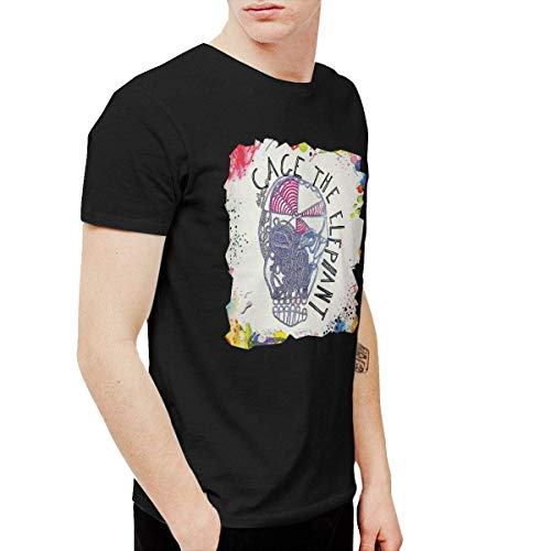 Sunyuer Men\'s Cage-The-Elephant Fashion Graphic Cotton Bequemes T-Shirt