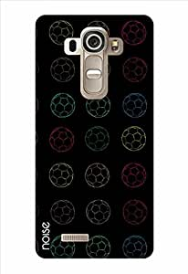 Noise Neon Footballs Printed Cover for LG G4 Pro
