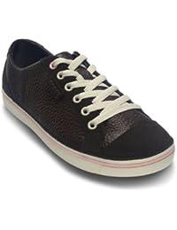 Crocs - - Hover Lace Up chaussures en cuir W Femmes, EUR: 38.5, Espresso/Petal Pink