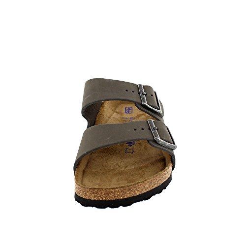 Birkenstock Sandale Arizona SFB Nubukleder Weichbettung normal Unisex Grau