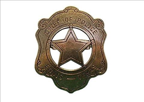 US commissaire de police badge messingf. cowboy western sheriff badge
