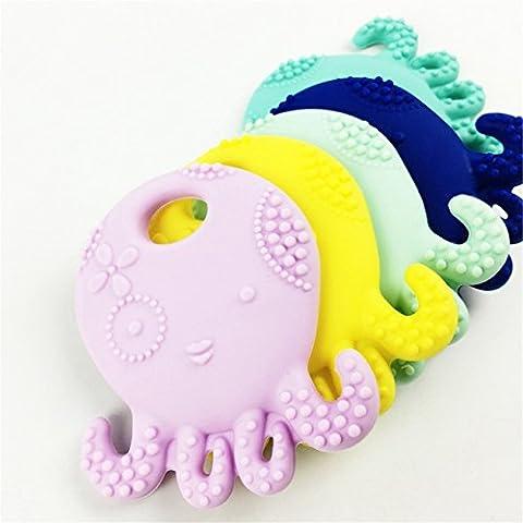 Mamimami Home Silikon-Krake-Teether-Halsketten-hängende Teether Kautablette 5pc BPA geben sichere und natürliche Baby-Zahnen-Zusatz-Krankenpflege-Halskette frei