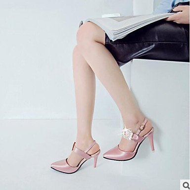 SANMULYH Scarpe Donna Pu Molla Tacchi Comfort Per Casual Rosa Nero Verde Rosa