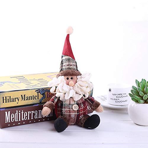 Baby-Frühbucherpuppe Weihnachtsmann Schneemann, Baumwolle Stofftier Ornament Baum Tischdekoration Puppe Weihnachtsgeschenk Spielzeug Ideal für Mädchen Jungen (Size : 1)