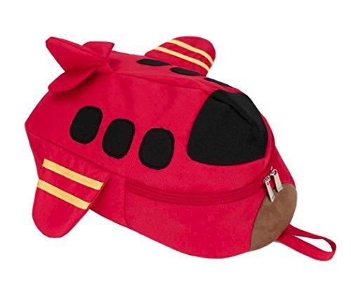 Backpage sunnymi Unisex Gute Qualität★Kinder Rucksack★Mini Backpack Mädchen Jungen/Kinder Gartentasche/Kleines Flugzeug Muster/Schule Baby-Kindergarten (Rot) (Plaid-kleid Schule)