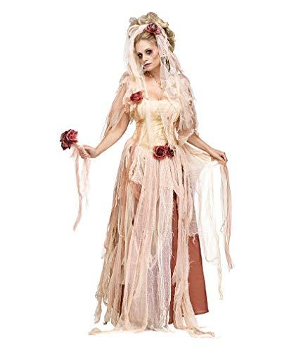 Horror-Shop Edles Premium Geisterbraut Kostümkleid für Halloween (Braut Der Finsternis Für Erwachsene Damen Kostüm)