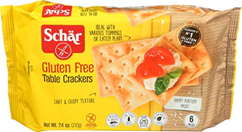 Schar Naturally Gluten-Free Table Crackers, 7.4 -Oz. Packages (Pack of 6)