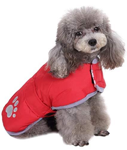 kaltem Wetter Hund Mäntel Loft und Wendbar Winter Fleece Hund Weste Wasserdicht Pet Jacke in Extra Klein, Klein, Mittel, groß und Extra Großen Größen, X-Small, Rot -